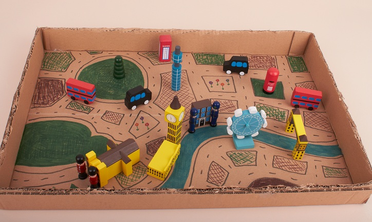 What Now Cardboard Town Craft Project