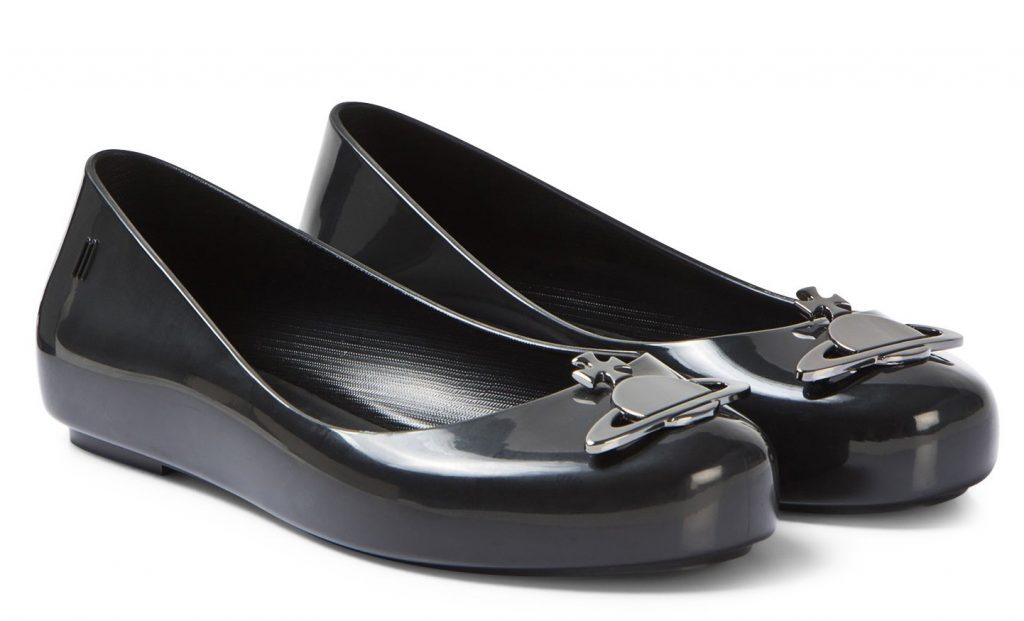 Mini Melissa Black Vivienne Westwood Space Shoes