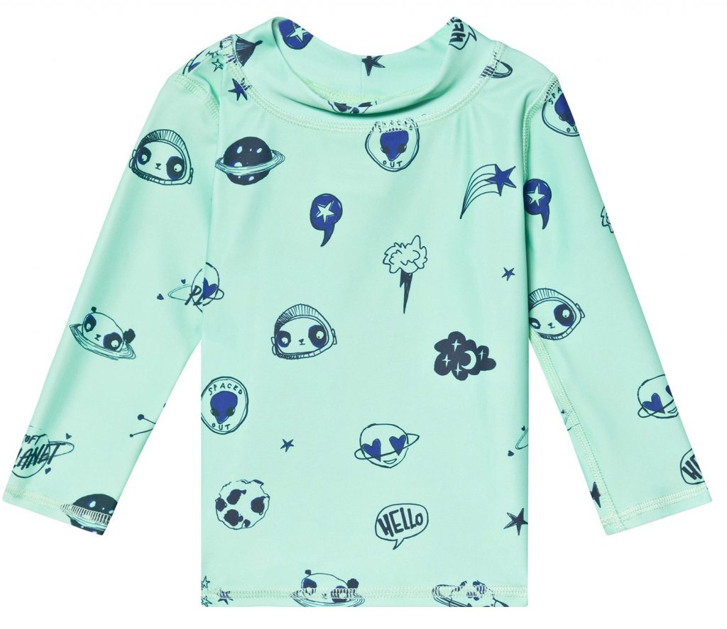 Baby long sleeved space swim tee