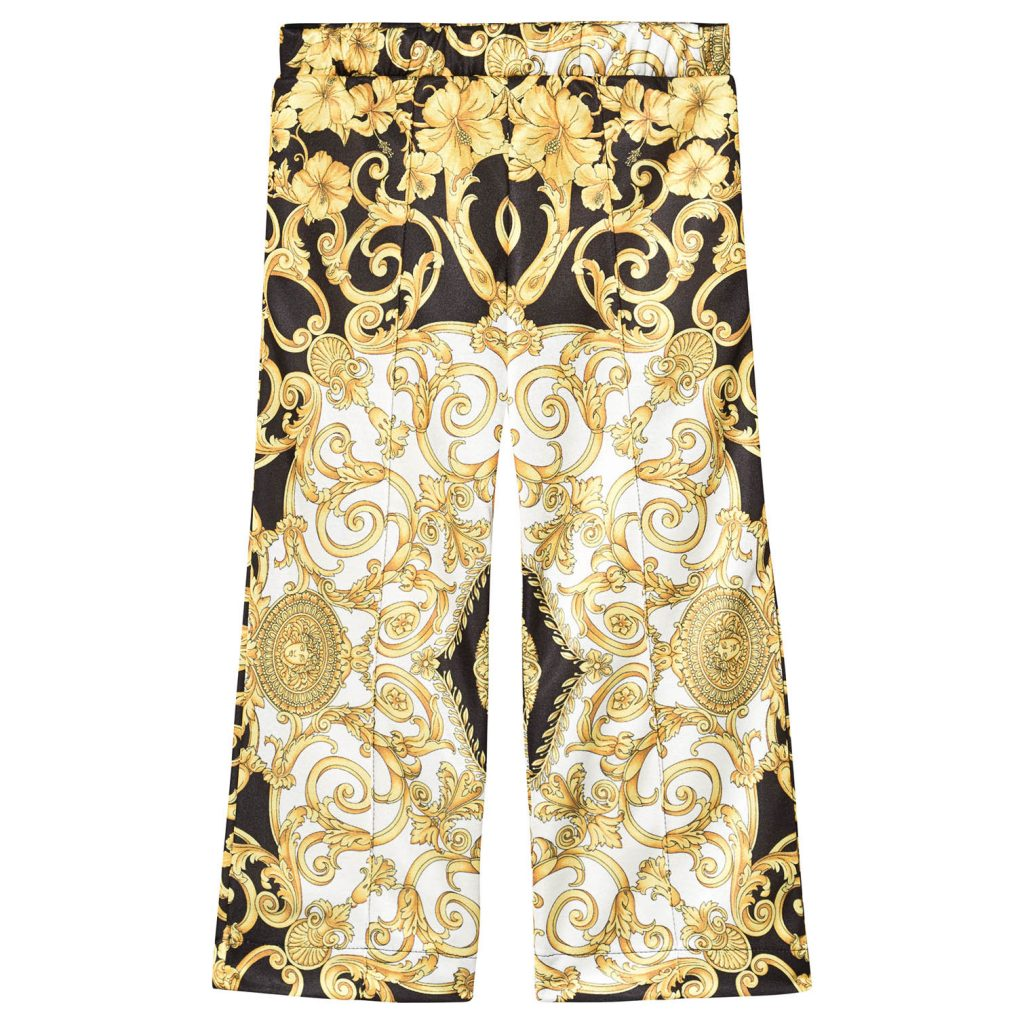 Versace patterned trousers for boys