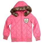 Juicy Couture: Pink Quilted Jacket With Faux Fur Trim Hood, £149.99