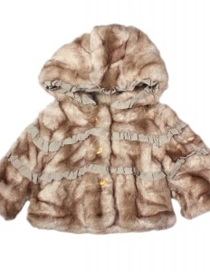 Princess wears Juicy Couture: Blonde Faux Fur Coat, £151.50 from alexandalexa.com