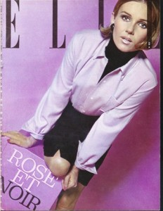 'Le Cacharel' shirt photographed by Peter Knapp and featured on the front cover of Elle Magazine, November 1963