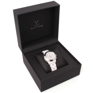 White and Silver Plastic Toy Watch in Gift Box at AlexandAlexa.com