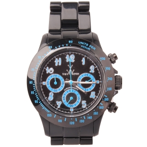 Blue and Black Plastic Toy Watch