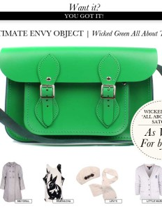 All about Tom Wicked Green School Satchel