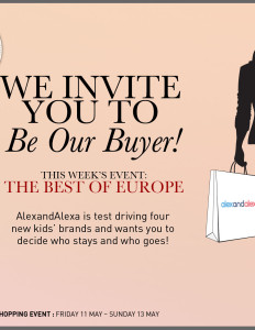 We invite you to Be Our Buyer! Save the date - May 11 - for the best of Europe sale
