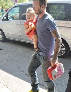 David Beckham and family going to Eiffel Tower restaurant, Paris, France - 05 May 2013