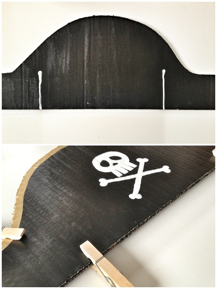 DIY card pirate hat