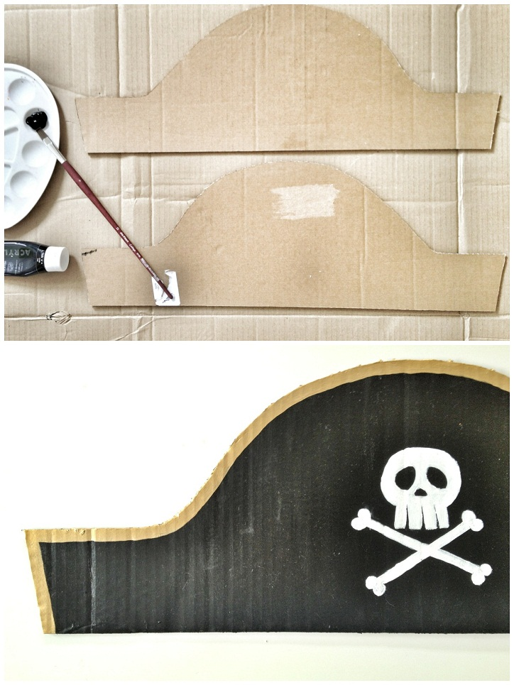 The pirate hat one of our favourite craft ideas for children for Diy pirate hat template