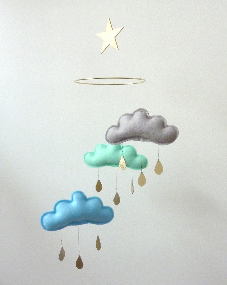 The Butter Flying- CLOUD HANDMADE BABY MOBILE