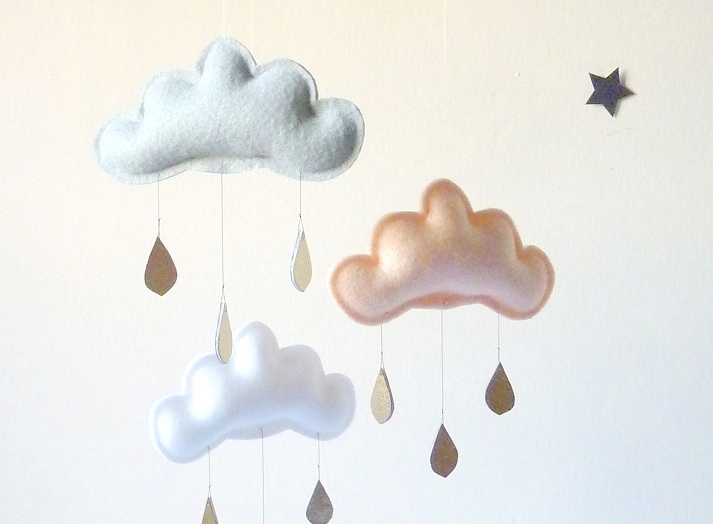 The Butterflying Handmade baby mobile