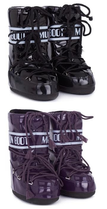 black and purple moon boot
