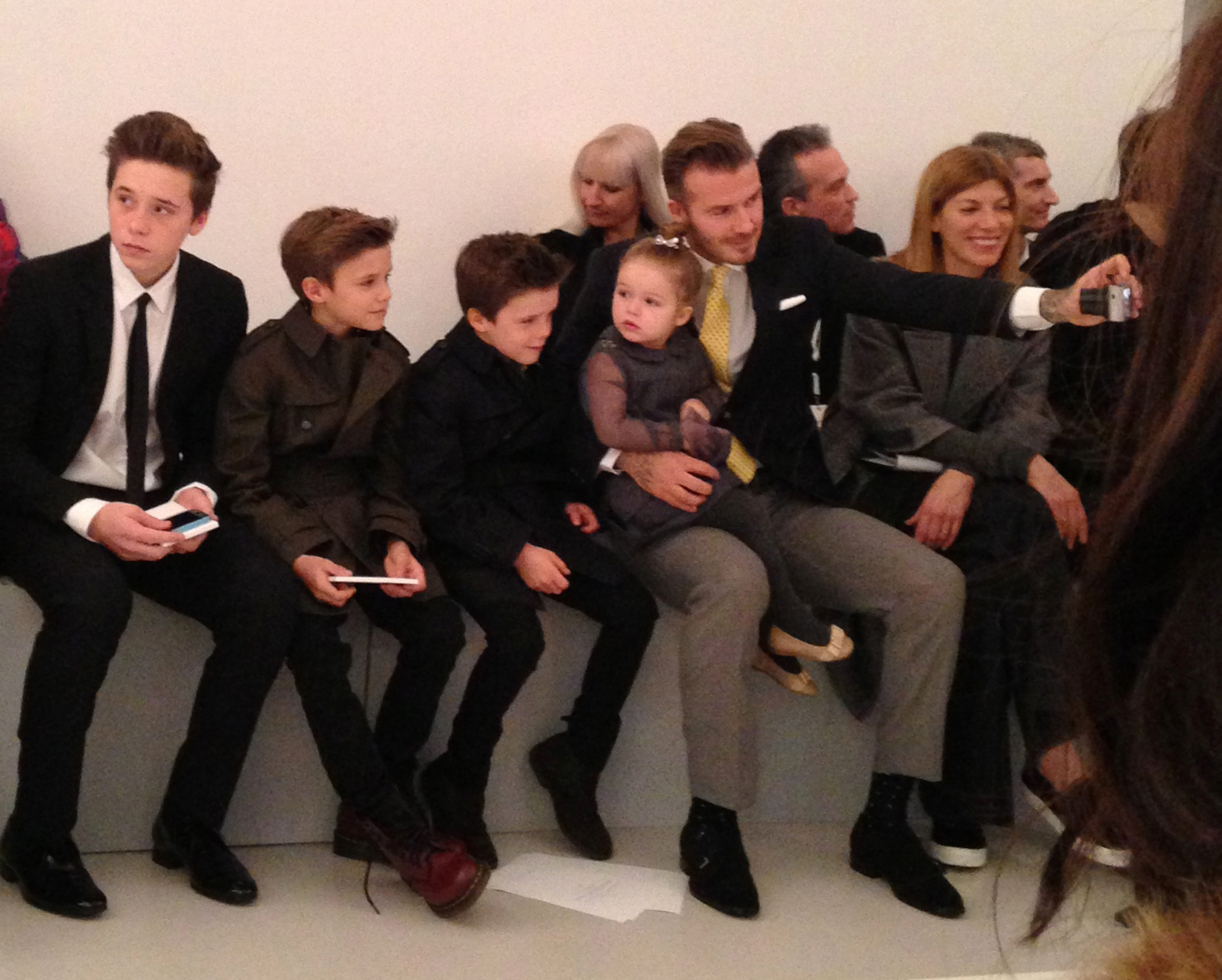 front row of Victoria Beckham's NYFW show. Image: Press Association