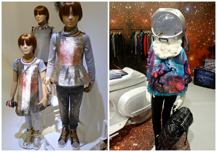 Metallic tunics for girls from Simonetta