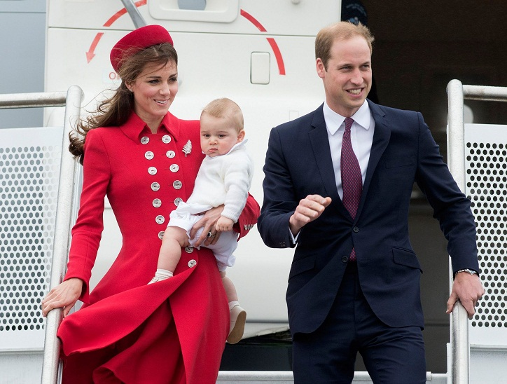 Royal parents Prince William and Catherine Duchess of Cambridge visit Wellington, New Zealand - April 7, 2014