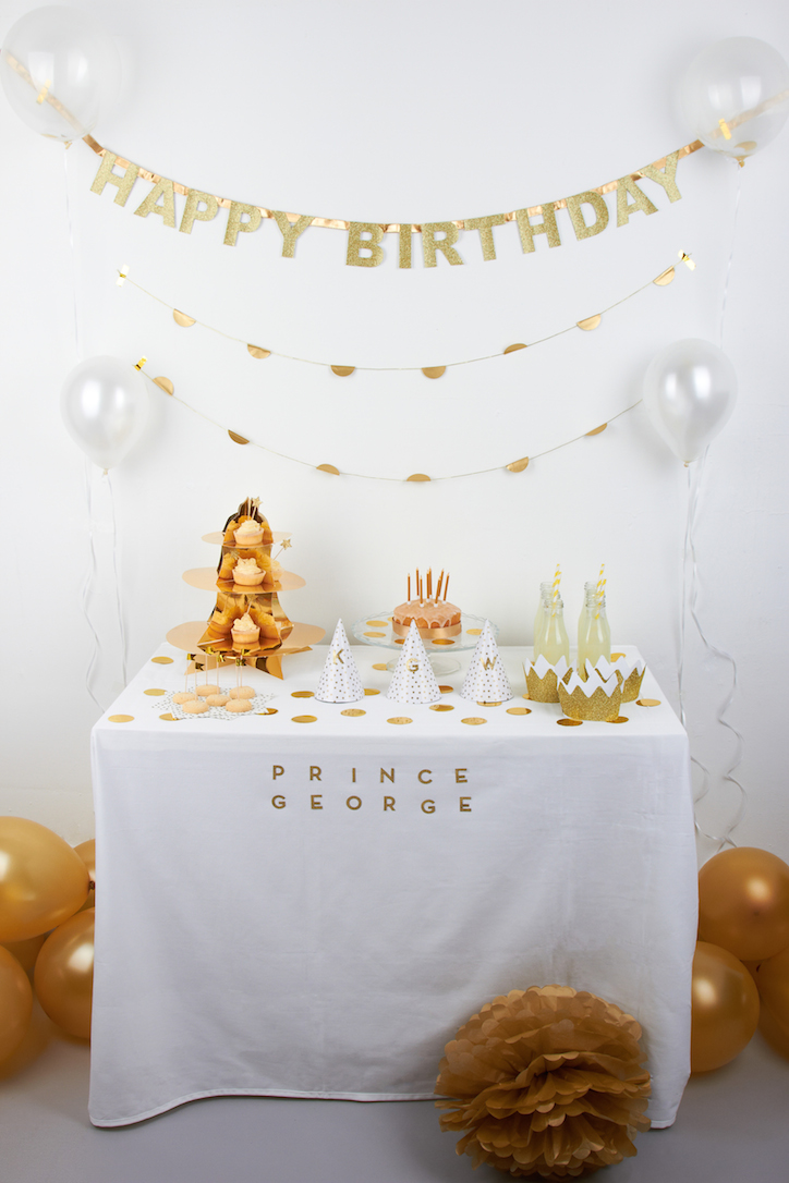 AlexandAlexa Imagines What Prince George's Birthday Party Will Look Like Part One: Gold and White