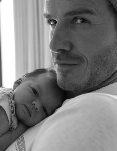 Harper Beckham with daddy