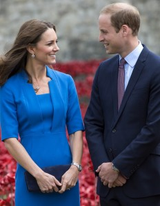 British Royals visit the 'Blood Swept Lands and Seas of Red' by Paul Cummins at the Tower of London, Britain - 05 Aug 2014