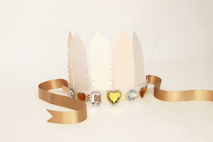 Paper Feather Crown
